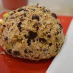 Hazelnut chocolate scone