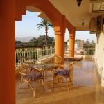 Balcony with French doors to all 3 bedrooms, overlooking Deir el-Bahari