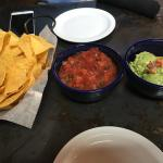 Chips, salsa and quacamole