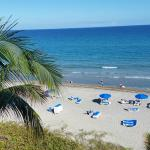 View of the beautiful beach from oceanfront room 546