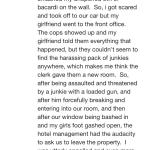 These are screenshots of a (terrifying!) review of Motel 6 South in Santa Fe, NM from mid Octobe