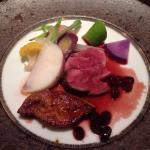 肉、魚のコース料理