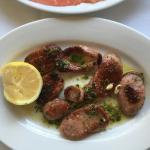 grilled pork sausage - after lemon squeeze!