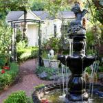 Underbar liten trädgård som hörde till hotellet.