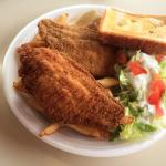 The catfish looked good, but can't say it is the best in town.