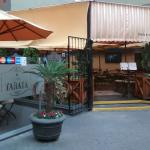 The entrance to the Café Tarata