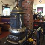 This is a lovely, toasty warm potbellied stove!