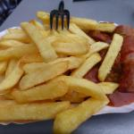delicious fries with the curry wurst
