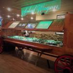 The salad bar is a great addition to your meal.