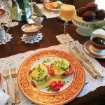 Eggs Salmon Benedict Breakfast