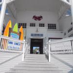 The beach side entrance