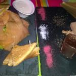 saumon fumé....foie gras....@cafe maxime