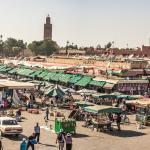 La place Jemaa el-Fna, à 2 mn à pied du Ryad