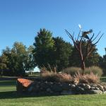 Sculpture at Red Tail Ridge Winery