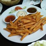 sweet-potato fries with dips