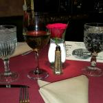 Main dining room, Ghost place setting,House red