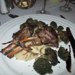 Lamb Chops with crispy brocolli