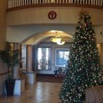 lobby with christmas decor