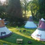 Huge wigwams dominate the grounds