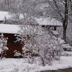 Winterlicher Blick aus dem Restaurant