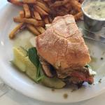Portobello Pesto sandwich with regular fries
