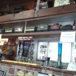 Train above the bar