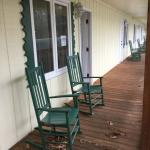 Porch with our rocking chairs