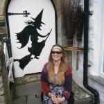 Shamrock Witch sits at the Witch Museum