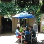 Scenes from the Courtyard restaurant