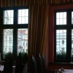 Restaurant im ersten Stock - Aussicht auf den Hauptplatz