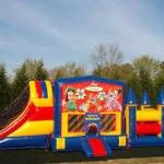 Bounce houses at the Recreation Field on Special Holidays
