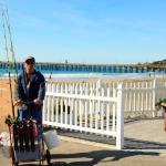 Thanks to Moinca from Shoreline for sharing this, my hubby with his pier cart!