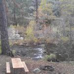 Great river view from deck, picnic table and firepit