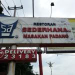 Restoran Sederhana Masakan Padang