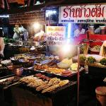 Food on show in Chinatown Bangkok