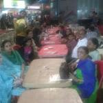 Enjoying Food at Ratri Bajar while going to Pavaghad with Family