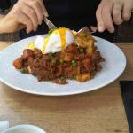 Mince on Toast with Poached Egg