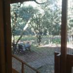 vistas desde cabaña en el suelo