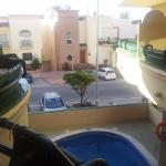 view from balcony out door pool