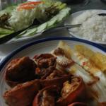 Super Abendessen mit Fisch und Languste