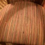 Stains and burns on chair fabric