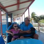 The start of the roller coaster - our friends (Richard and Rosaly)