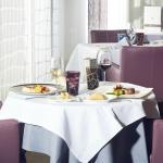 Restaurant vue de table