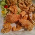 "mmmm, ""wings"" and salad"