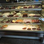 many choices of cakes, pies and cookies