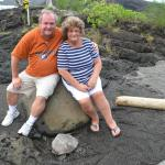 One of the many turtles we saw at a secluded part of another one of the black sand beaches