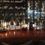 The Sommelier selection of wines for the 6 course Degustation