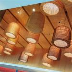 Aesthetic lighting at Mosaic Lounge for breakfast buffet.