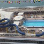 Above Superstar Virgo cruise ship
