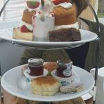 The afternoon tea was lush